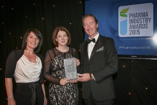 The Pharma Start-up Company of the Year Award presented by Dr Niall Hoey, Portalis to Maureen Gilbert, operations coordinator and Louise Grubb, chief executive, Q1 Scientific