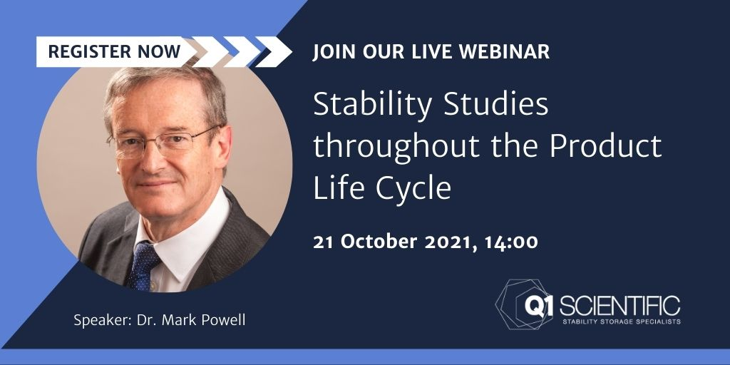 Stability Studies throughout the Product Life Cycle webinar
