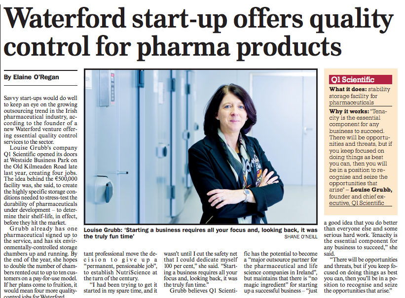 Stability Storage Specialists – Sunday Business Post Article