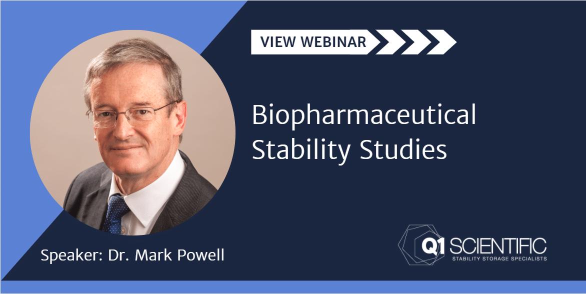 View webinar: Biopharmaceutical Stability Studies