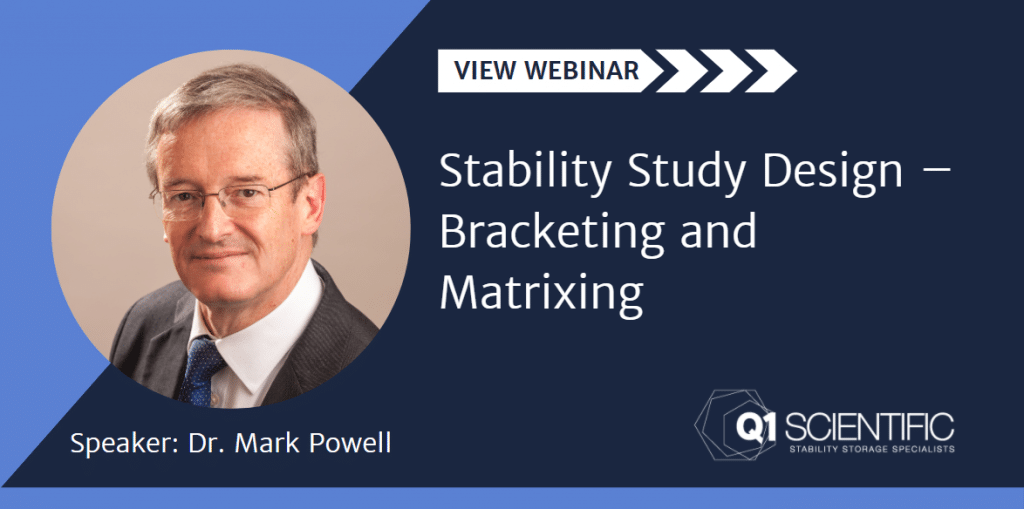View Webinar Stability Study Design Bracketing and Matrixing